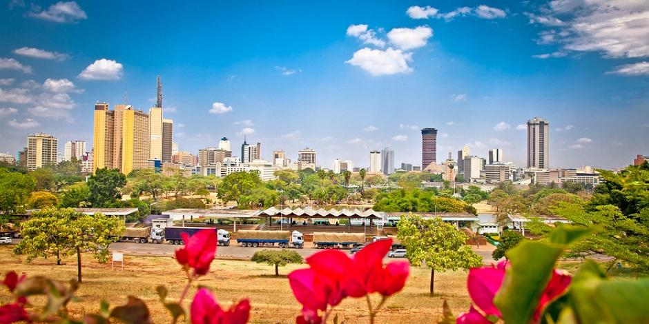 Vue panoramique de Nairobi