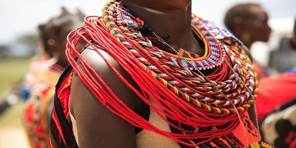 Ornement traditionnel au Kenya